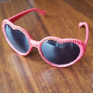 Betsey Johnson Red Heart Sunglasses